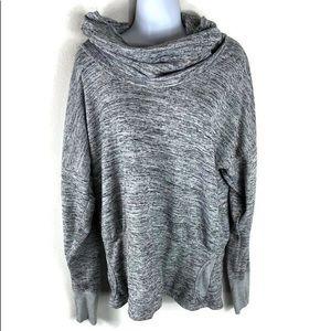 Athleta Heather Gray Cowl Neck Sweater XL